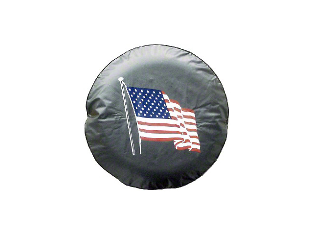 American Flag Spare Tire Cover with Camera Port (18-21 Jeep Wrangler JL)