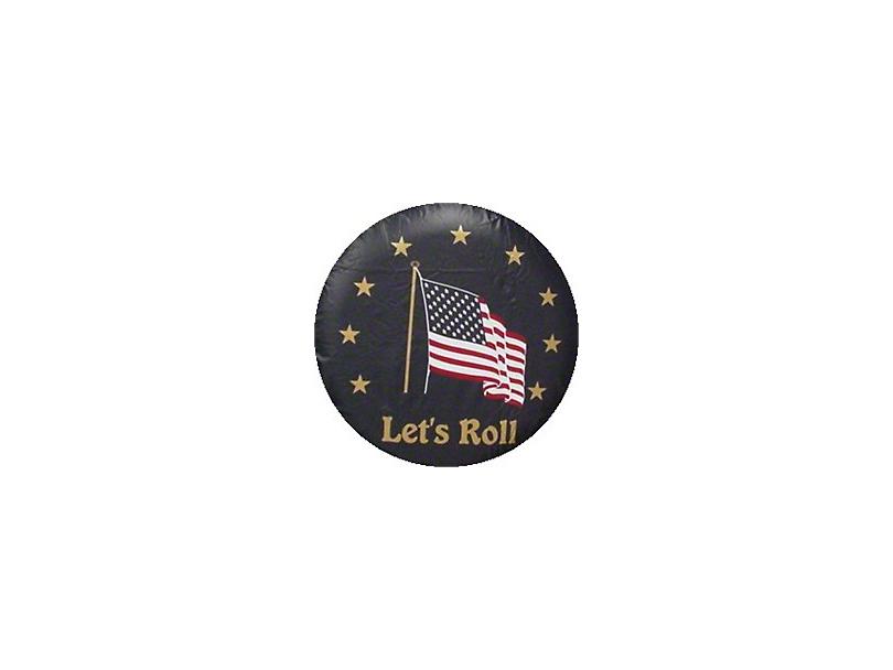 Let's Roll Spare Tire Cover - Black (87-19 Jeep Wrangler YJ, TJ, JK & JL)
