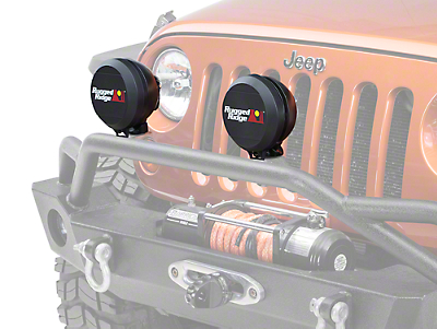 Rugged Ridge 6 in. HID Off-Road Light Cover - Black (87-18 Wrangler YJ, TJ & JK)
