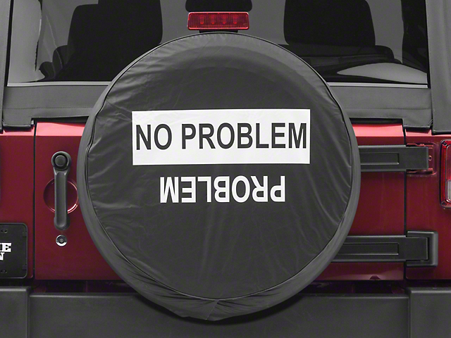 No Problem/Problem Spare Tire Cover (87-18 Jeep Wrangler YJ, TJ & JK)