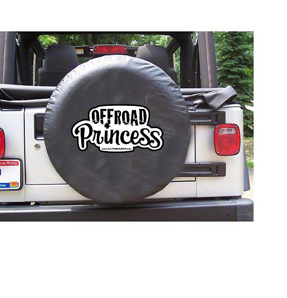 White Off-Road Princess Spare Tire Cover (87-18 Jeep Wrangler YJ, TJ, JK & JL)