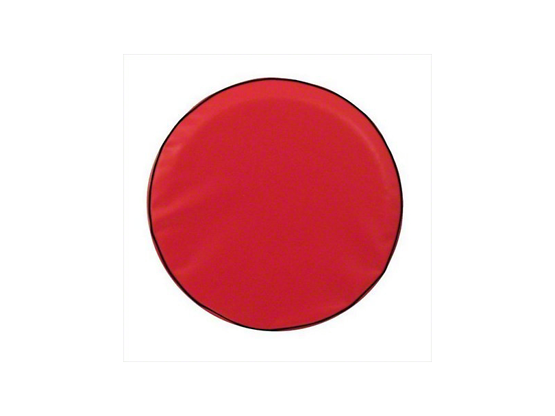 Spare Tire Cover - Solid Red (87-19 Jeep Wrangler YJ, TJ, JK & JL)