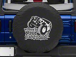 Where's Your Playground with Jeep Spare Tire Cover (66-18 Jeep CJ5, CJ7, Wrangler YJ, TJ & JK)