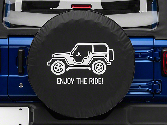 Enjoy the Ride Spare Tire Cover (87-19 Jeep Wrangler YJ, TJ, JK & JL)