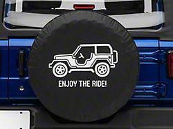 Enjoy the Ride Spare Tire Cover (66-18 Jeep CJ5, CJ7, Wrangler YJ, TJ & JK)