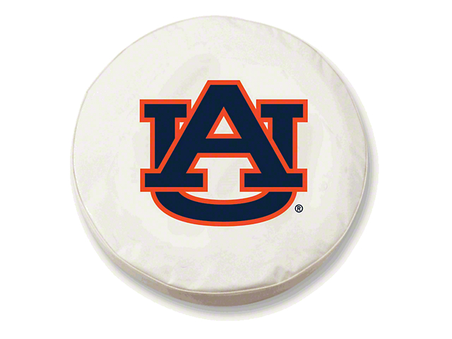 Auburn University Spare Tire Cover with Camera Port; White (18-21 Jeep Wrangler JL)