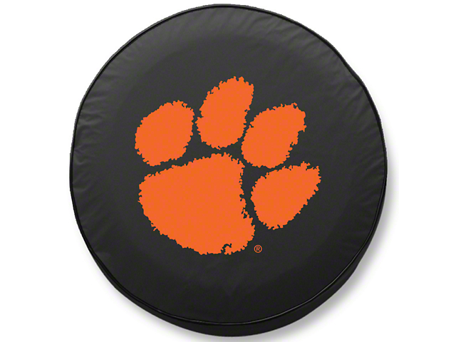 Clemson University Spare Tire Cover - Black (87-20 Jeep Wrangler YJ, TJ, JK & JL)