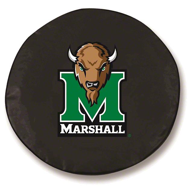 Marshall University Spare Tire Cover - Black (87-18 Jeep Wrangler YJ, TJ, JK & JL)