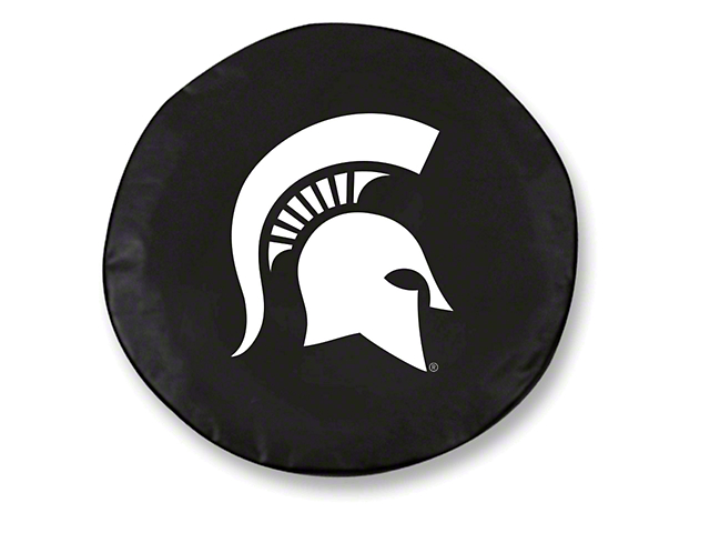 Michigan State University Spare Tire Cover - Black (87-19 Jeep Wrangler YJ, TJ, JK & JL)