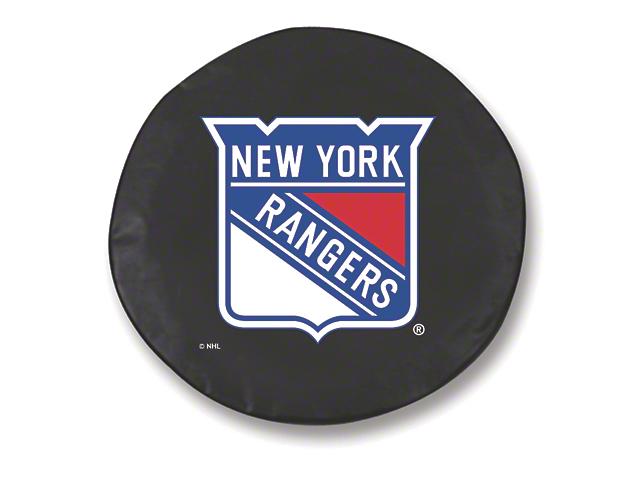 New York Rangers Spare Tire Cover - Black (87-19 Jeep Wrangler YJ, TJ, JK & JL)