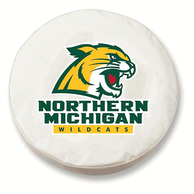 Northern Michigan University Spare Tire Cover - White (87-18 Jeep Wrangler YJ, TJ, JK & JL)