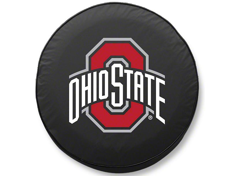 Ohio State University Spare Tire Cover - Black (87-20 Jeep Wrangler YJ, TJ, JK & JL)