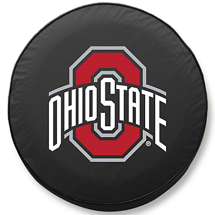 Ohio State University Spare Tire Cover - Black (87-18 Jeep Wrangler YJ, TJ, JK & JL)