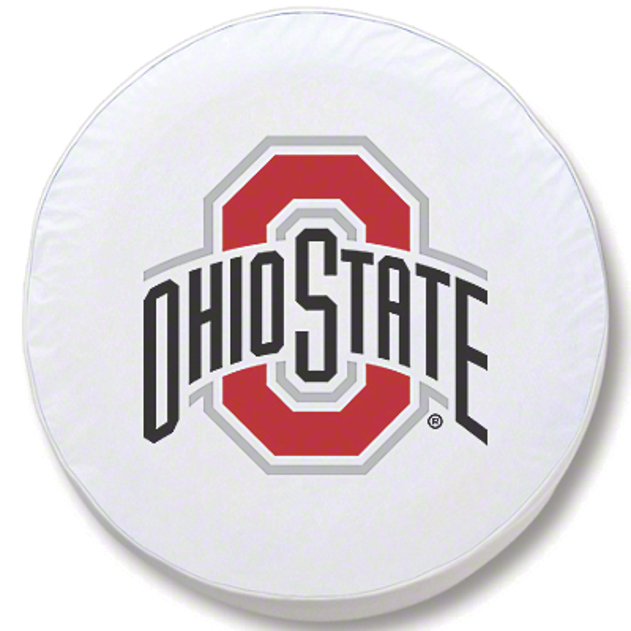 Ohio State University Spare Tire Cover - White (87-18 Jeep Wrangler YJ, TJ, JK & JL)
