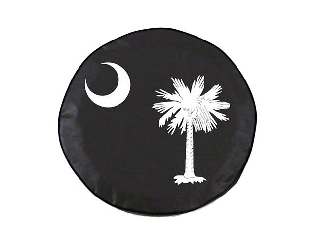 South Carolina State Flag Spare Tire Cover; White (87-18 Jeep Wrangler YJ, TJ & JK)