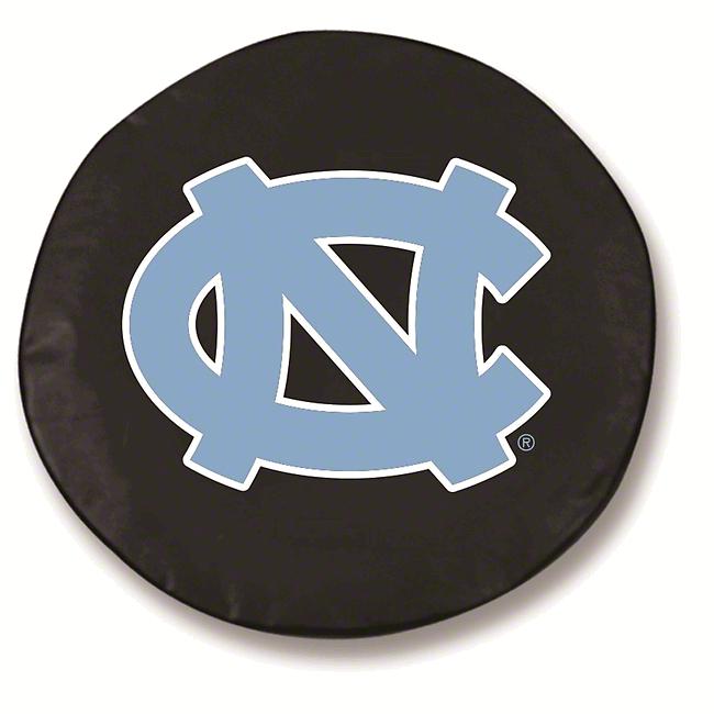 University of North Carolina Spare Tire Cover - Black (87-18 Jeep Wrangler YJ, TJ, JK & JL)