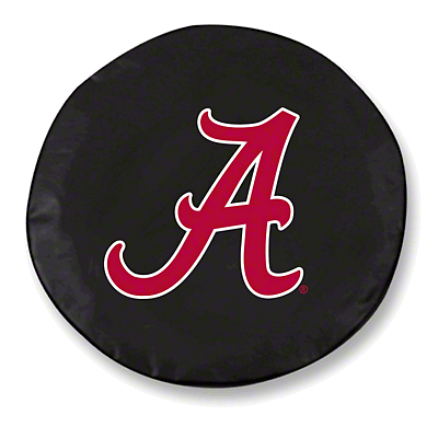 University of Alabama A Spare Tire Cover - Black (87-18 Jeep Wrangler YJ, TJ, JK & JL)