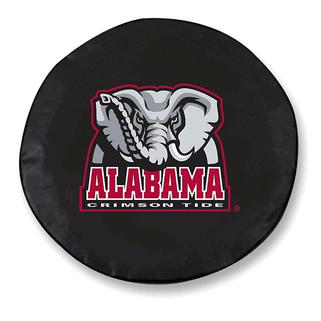 University of Alabama Elephant Spare Tire Cover - Black (87-18 Jeep Wrangler YJ, TJ, JK & JL)
