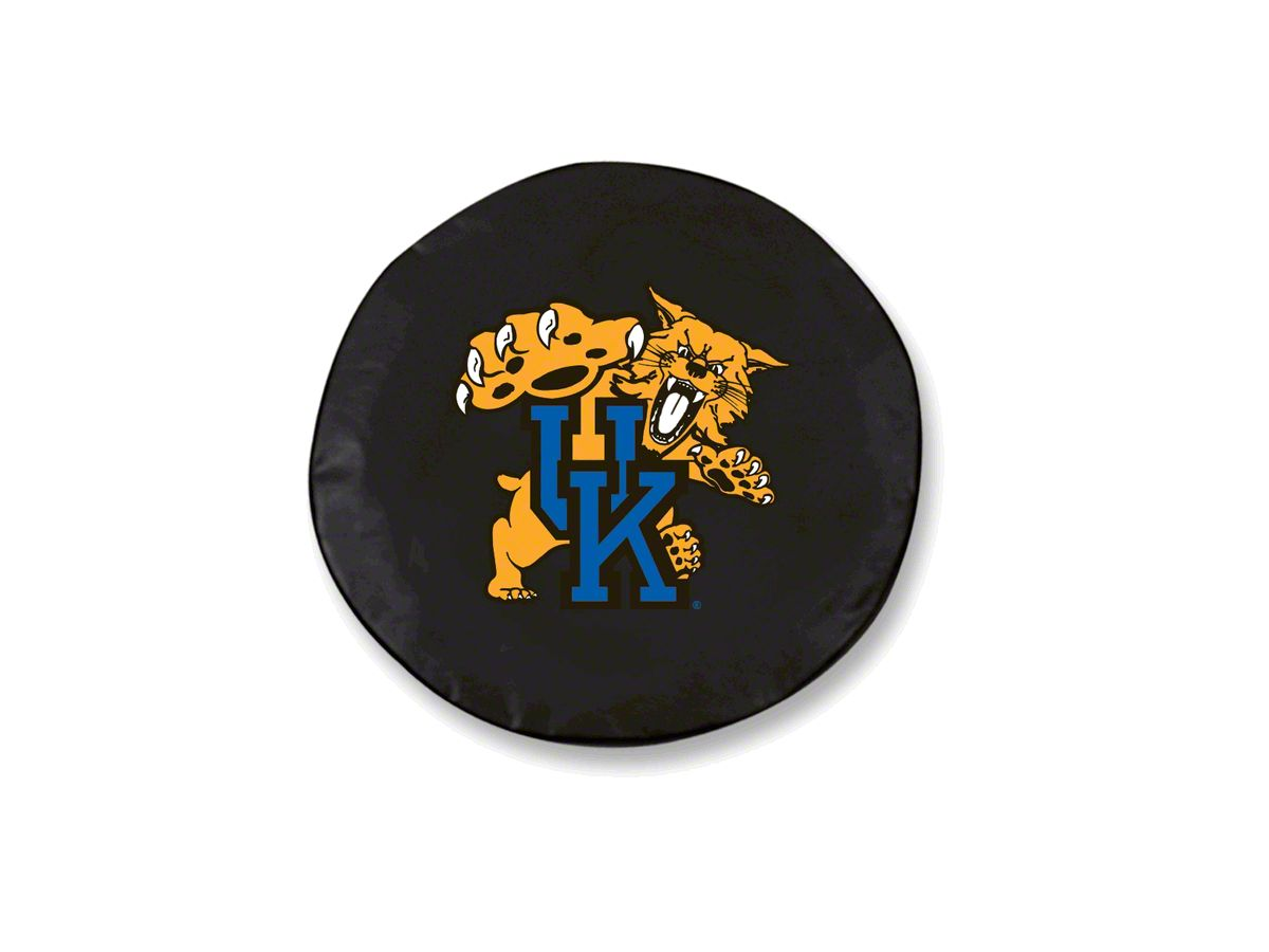 Jeep Wrangler University Of Kentucky Cat Spare Tire Cover Black 87 18 Jeep Wrangler Yj Tj Jk