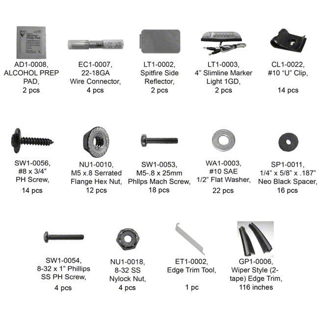 Bushwacker PK1-20091 Complete Hardware Kit for Fender Flare