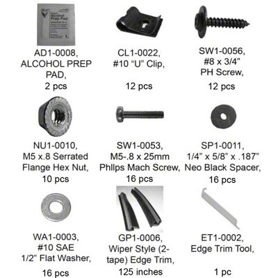 Bushwacker PK1-20057 Complete Hardware Kit for 20057-02
