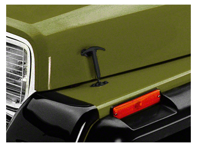 Rugged Ridge Hood Catches; Black (87-95 Jeep Wrangler YJ)