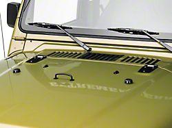 Rugged Ridge Hood Dressup Kit; Black (97-06 Jeep Wrangler TJ)