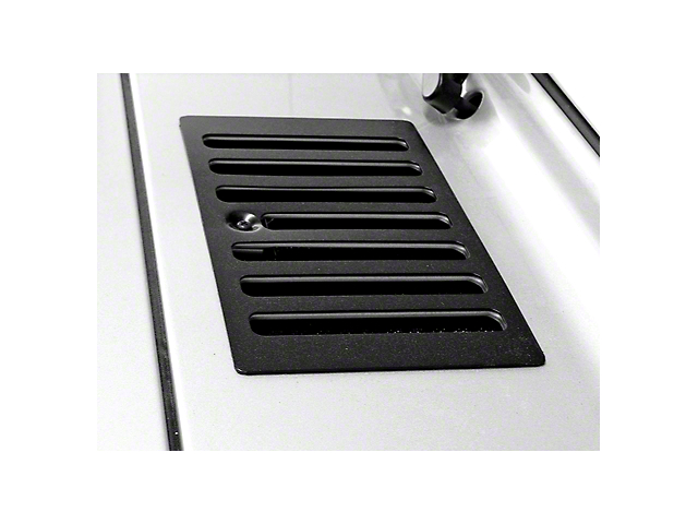 Rugged Ridge Cowl Vent Cover; Black (98-06 Jeep Wrangler TJ)