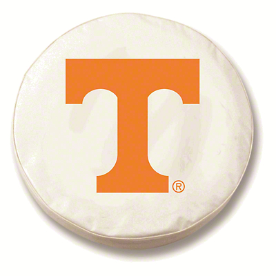 University of Tennessee Spare Tire Cover - White (87-18 Jeep Wrangler YJ, TJ, JK & JL)