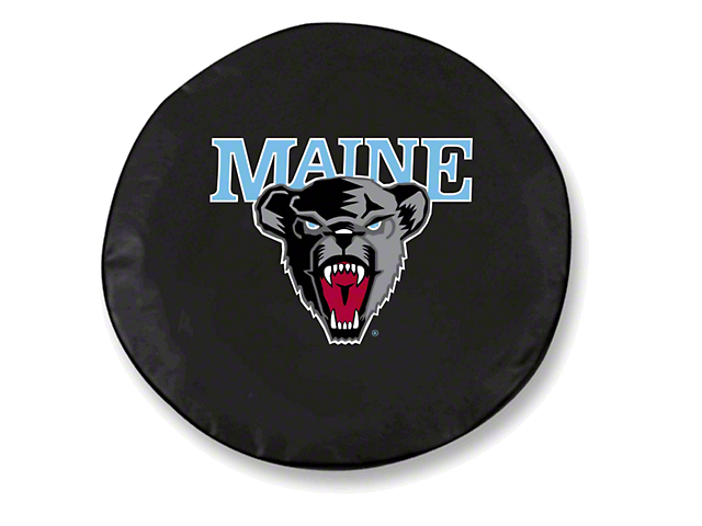 University of Maine Spare Tire Cover - Black (87-19 Jeep Wrangler YJ, TJ, JK & JL)
