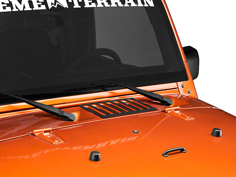 Rugged Ridge Hood Vent Cover - Black (07-18 Jeep Wrangler JK)