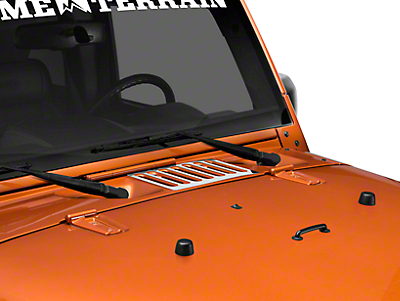 Rugged Ridge Hood Vent Cover - Stainless Steel (07-18 Jeep Wrangler JK)