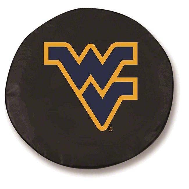 West Virginia University Spare Tire Cover - Black (87-18 Jeep Wrangler YJ, TJ, JK & JL)