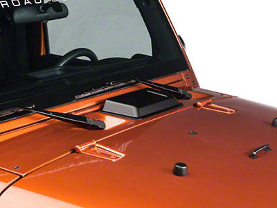 Rugged Ridge Hood Vent Scoop - Black (98-18 Wrangler TJ & JK)