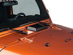 Rugged Ridge Cowl Vent Scoop; Black (98-18 Jeep Wrangler TJ & JK)