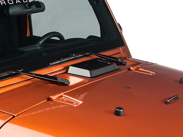 Rugged Ridge Cowl Vent Scoop; Smoked (98-18 Jeep Wrangler TJ & JK)