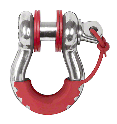 Daystar D-Ring Locking Isolators & Washers - Red