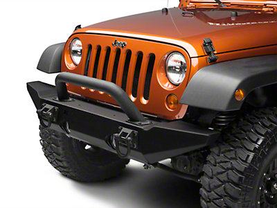 Rugged Ridge Hoop Over Rider for XHD Front Bumper - Textured Black (87-17 Wrangler YJ, TJ & JK)