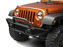 Rugged Ridge XHD Front Bumper Over-Rider Hoop; Textured Black (87-20 Jeep Wrangler YJ, TJ, JK & JL)