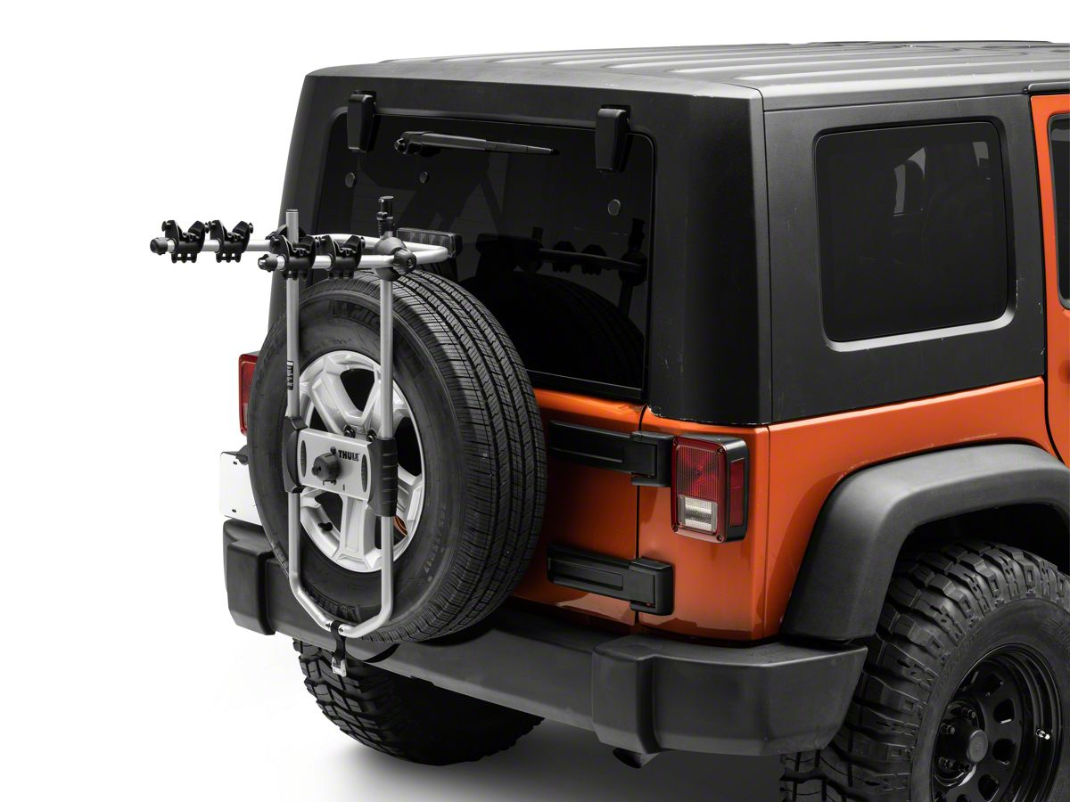 Jeep Wrangler Bike Rack >> Thule Spare Me 963pro Spare Tire Bike Rack Carriers 2 Bikes 87 20 Jeep Wrangler Yj Tj Jk Jl