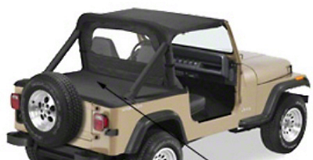 Smittybilt Tonneau Cover - Black Denim (87-91 Jeep Wrangler YJ)