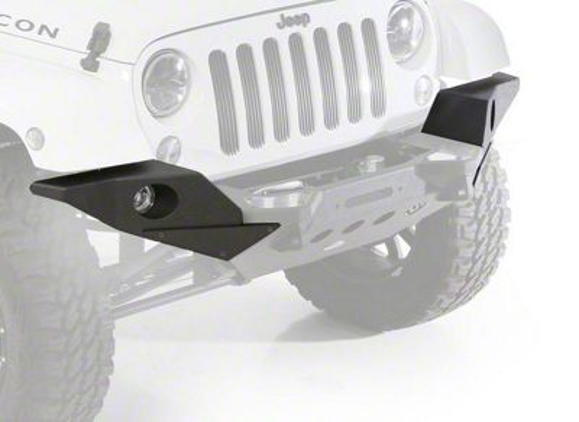 Smittybilt XRC M.O.D. Full Width End Plates - Textured Black (07-18 Jeep Wrangler JK)
