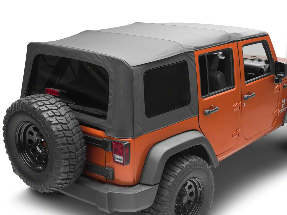 Jeep Wrangler Jk >> Smittybilt Replacement Soft Top W Tinted Windows Black Diamond 07 09 Jeep Wrangler Jk 4 Door