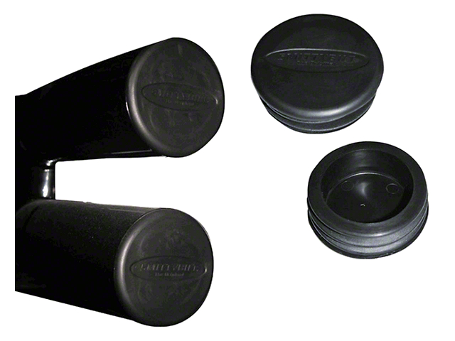 Smittybilt Tubular Bumper End Caps for 3 in. Tubes - Black (87-19 Jeep Wrangler YJ, TJ, JK & JL)