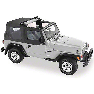 Pavement Ends Flip Soft Top - Black Denim (87-95 Jeep Wrangler YJ)