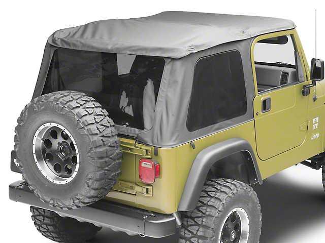 Sprint Top Frameless Soft Top; Black Diamond (97-06 Jeep Wrangler TJ, Excluding Unlimited)