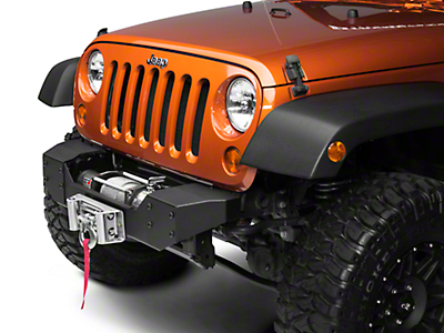 Rough Country Hybrid Stubby Front Bumper w/ Winch Mount (07-18 Wrangler JK)