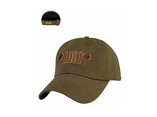 Jeep Grille Hat - Military Green