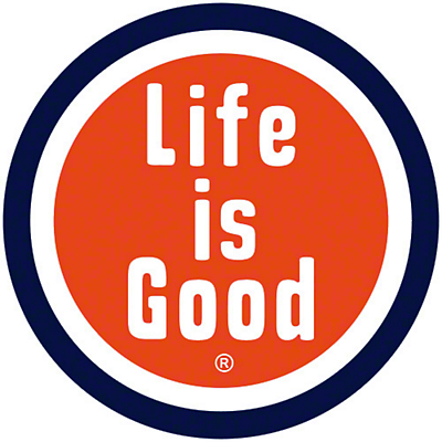 Life is Good Circle Car Magnet - Orange