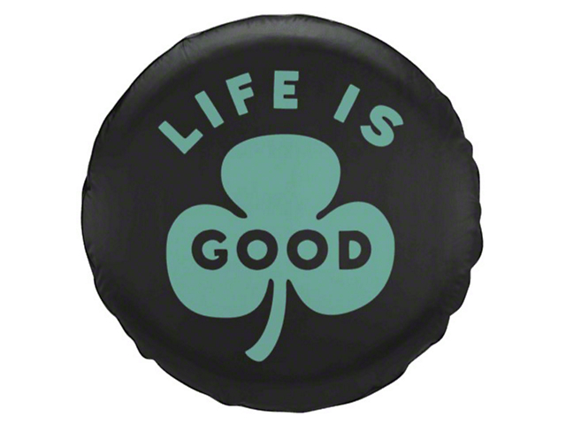 Life is Good Green Clover Spare Tire Cover (87-19 Jeep Wrangler YJ, TJ, JK & JL)
